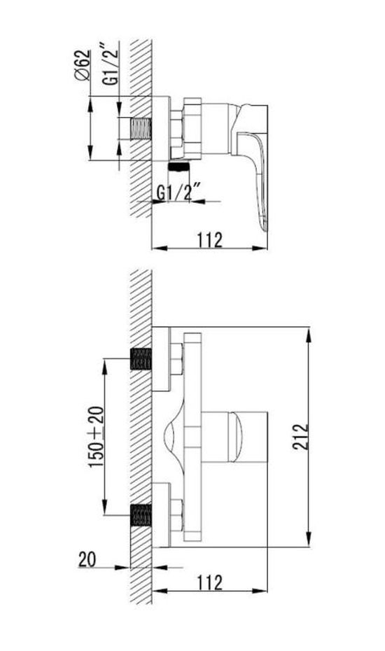 armal-lily-armatura-za-prho-krom-enorocna