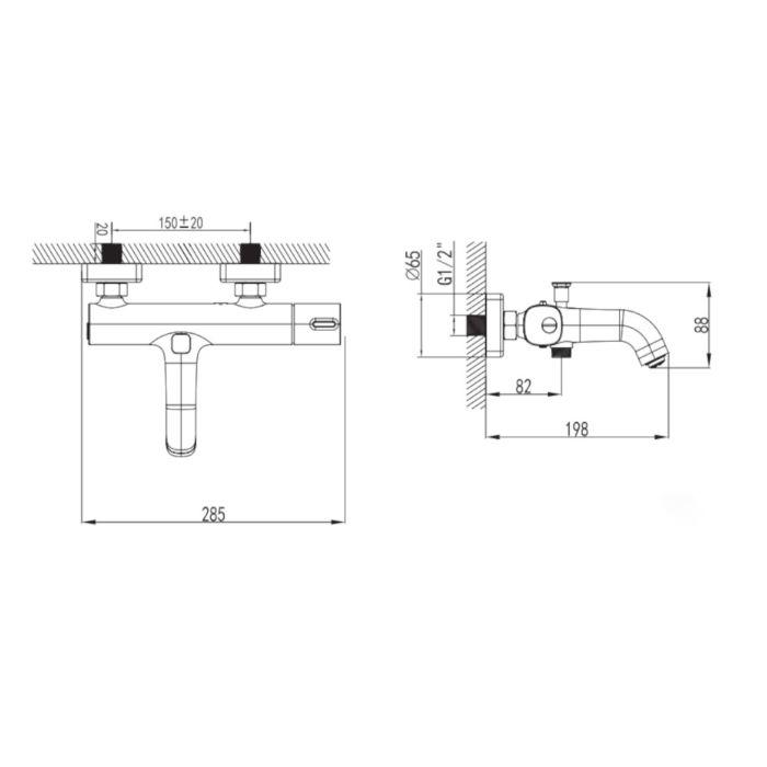 armatura-za-kad-schmidler-dubai-du10.15-crna-rose-gold