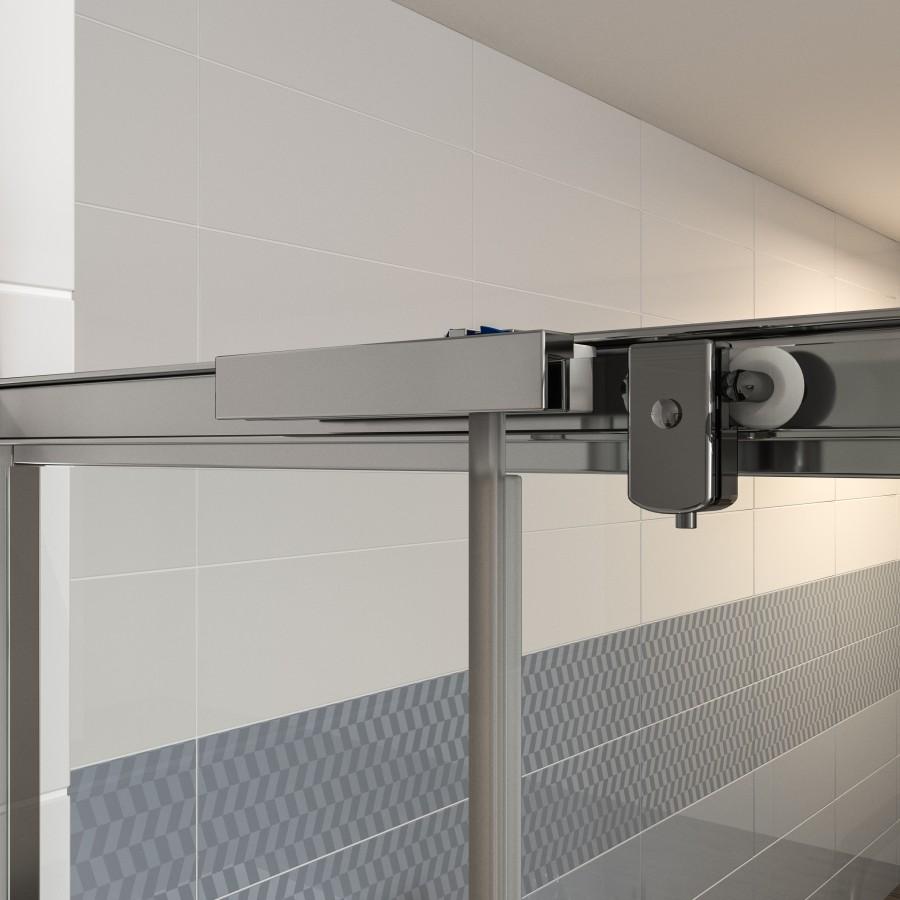 tus-vrata-trodelna-domino-100-2000-cm-beli-profili-mat-steklo-6-mm