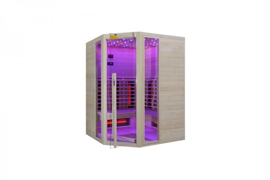 IR infrardeča Savna Full Spectrum + karbonski nano grelci – kotna – 150 x 150 x 200 cm