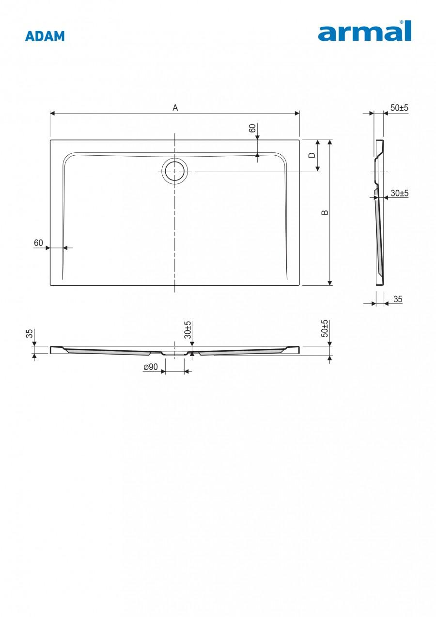 kad-za-prhanje-adam-110-80-3,5-cm-brez-sifona