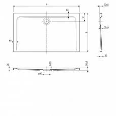 kad-za-prhanje-adam-140-80-3,5-cm-brez-sifona