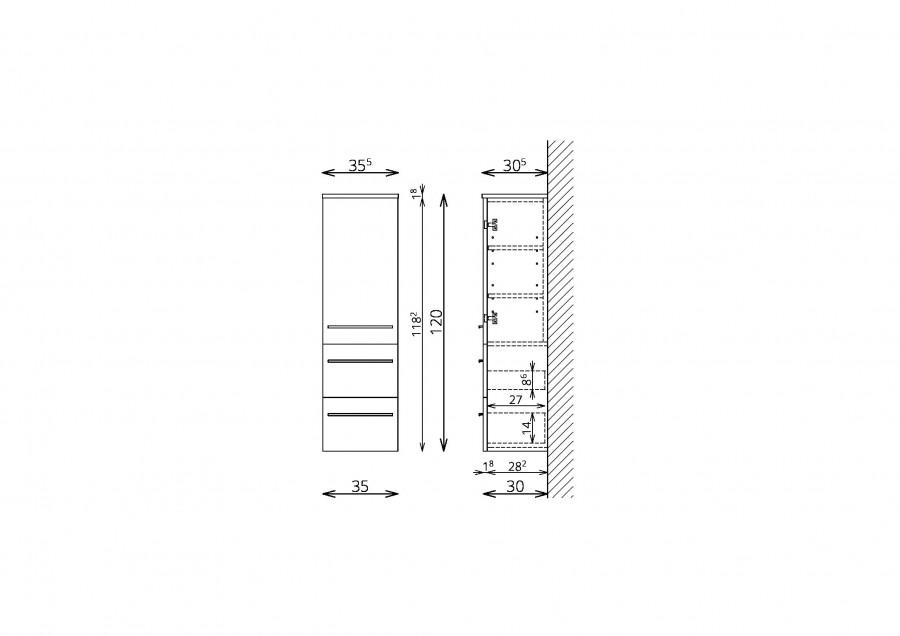 kopalniska-omara-tboss -dana-120-cm-ena-vrata-dva-predala