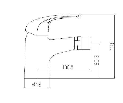 armal-start-armatura-za bide-krom-enorocna