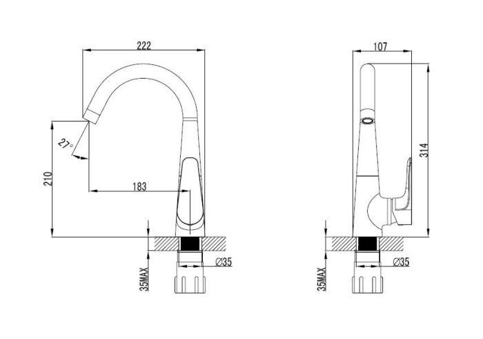 armal-lily-armatura-za-pomivalno korito-krom-enorocna