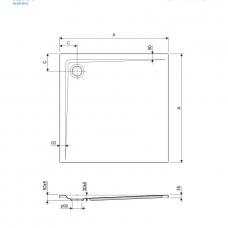 kad-za-prhanje-adam-80-80-3,5-cm-brez-sifona