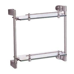 steklena-polica-lux-dvojna-krom