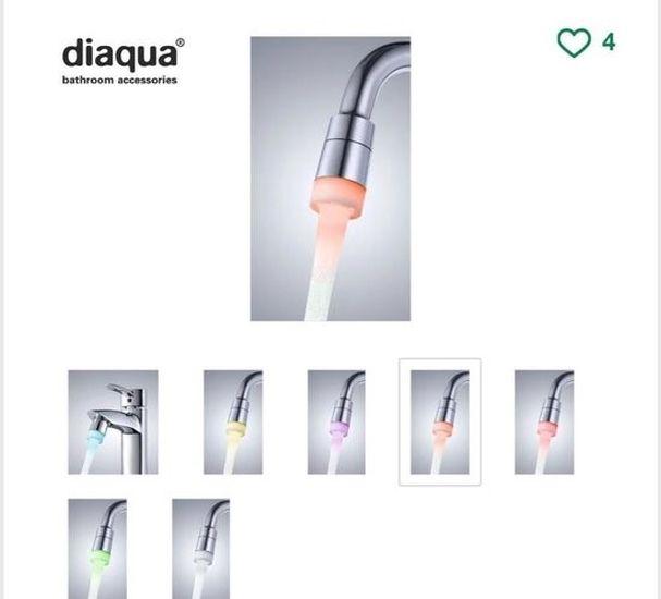 diaqua-nastavek-za pipo-z-led-osvetlitvijo