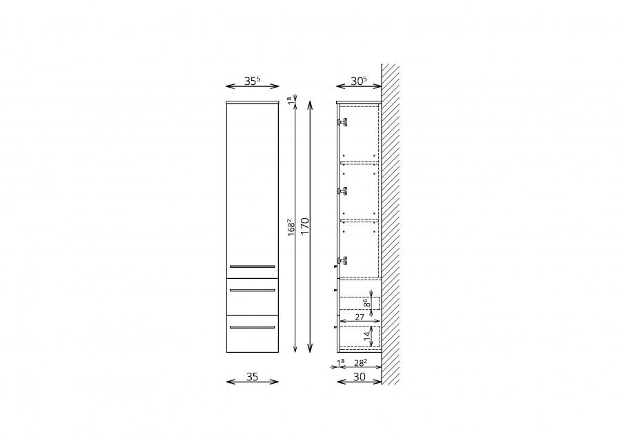 kopalniska-omara-tboss-dana-170-cm-ena-vrata-dva-predala