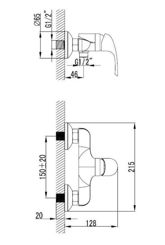 armal-start-armatura-za-prho-krom-enorocna